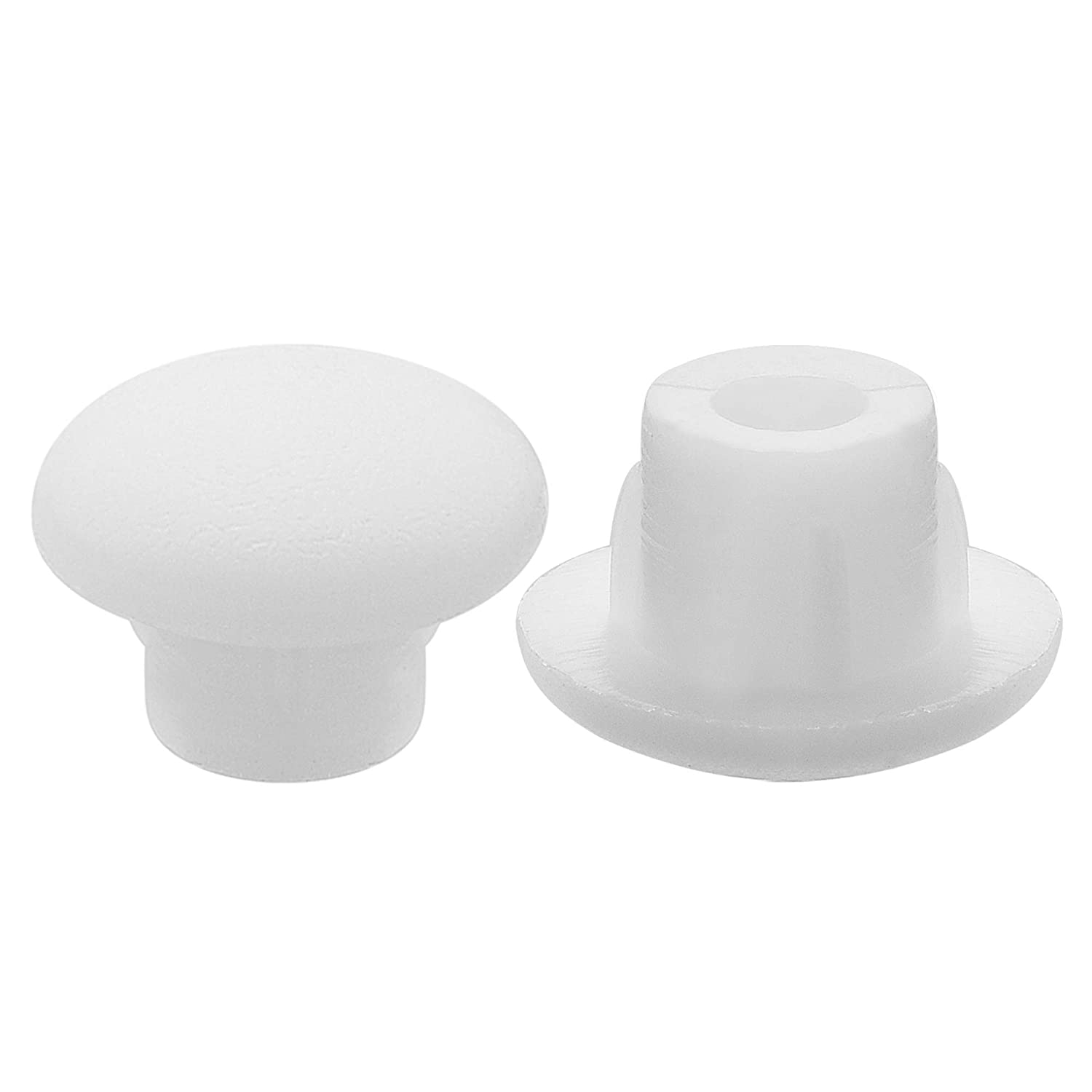 3//16 Plastic Hole Plug Button Top for Cabinet Cupboard Shelf Bluecell Pack of 300pcs 5mm Bluecell World 5mm, White