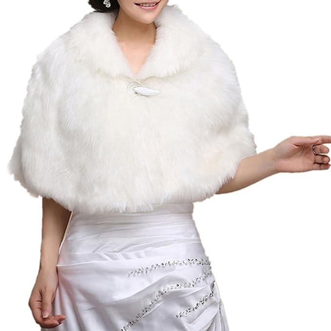 Insun Chal para mujer chaquetas de las mujeres abrigo chal para Noche y weddimg vestido Blanco: Amazon.es: Ropa y accesorios