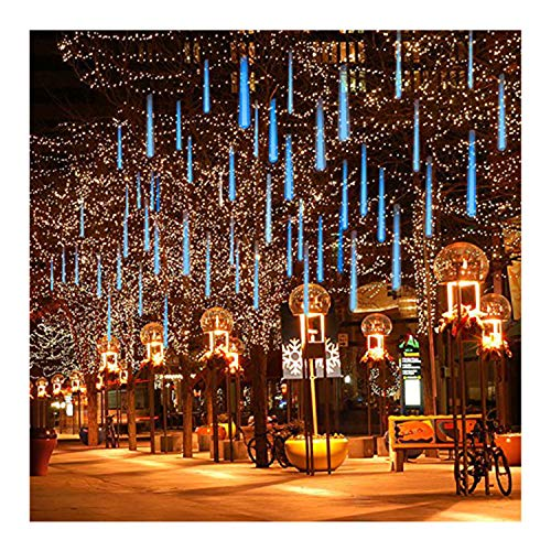 Blue Led Icicle Xmas Lights in US - 8