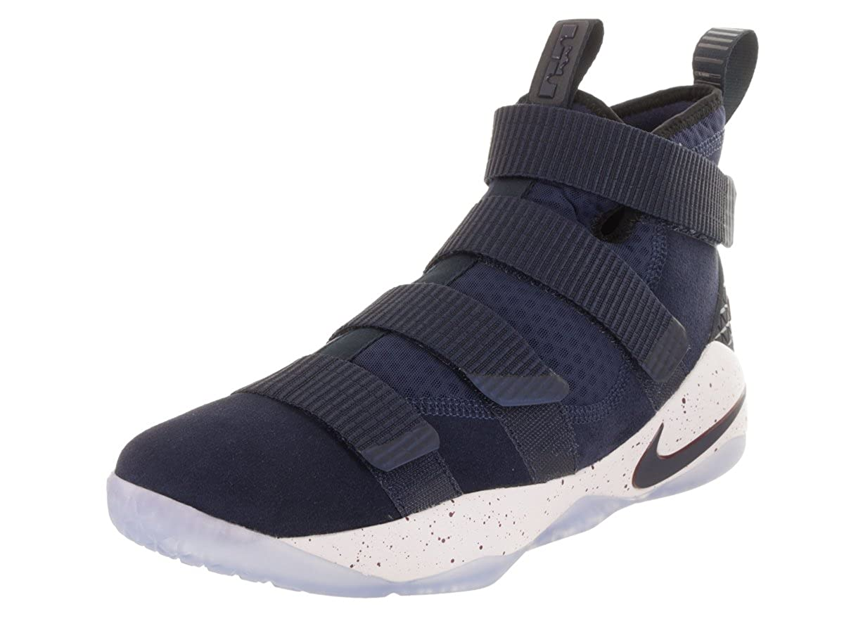 sports shoes 3f842 6057f NIKE Men's Zoom Lebron Soldier XI Basketball Shoes (12, Navy/Red-M)