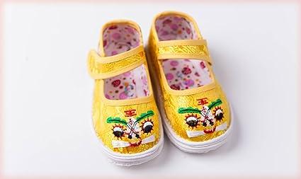 HTXCHOU Zapatos de bebé niño y niña Zapatos Hechos a Mano Zapatos de bebé Chino Tradicional