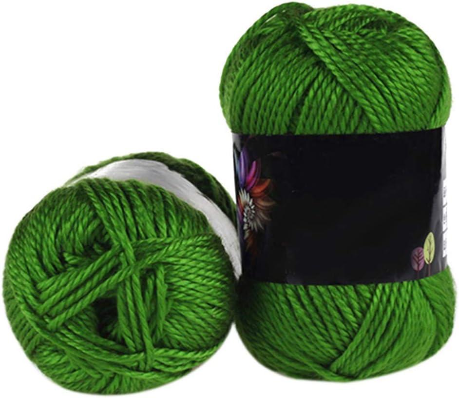 Ogquaton 1 Madeja Suave Bambú Crochet Algodón 50g Hilo para Tejer Suéter para bebé Hilo de Lana de Punto - 19: Amazon.es: Hogar