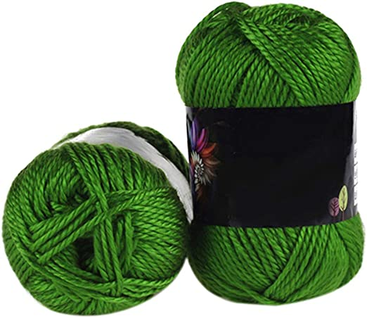Ogquaton - 1 x lana de algodón suave de ganchillo de 50 g para ...