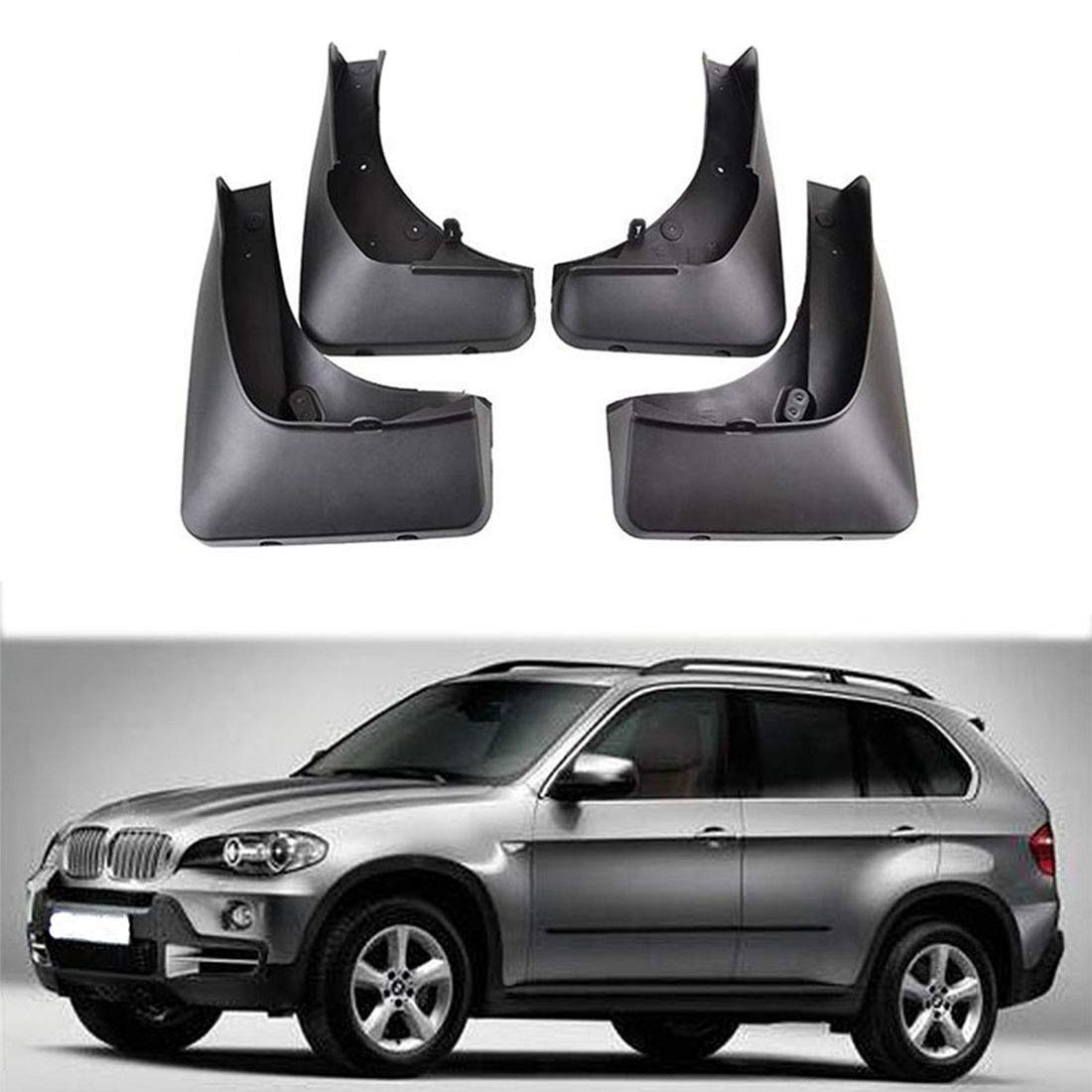 Richdoo For X5 E70 2007-2013 Front & Rear Splash Mud Guards Mud Guards Flaps NEW