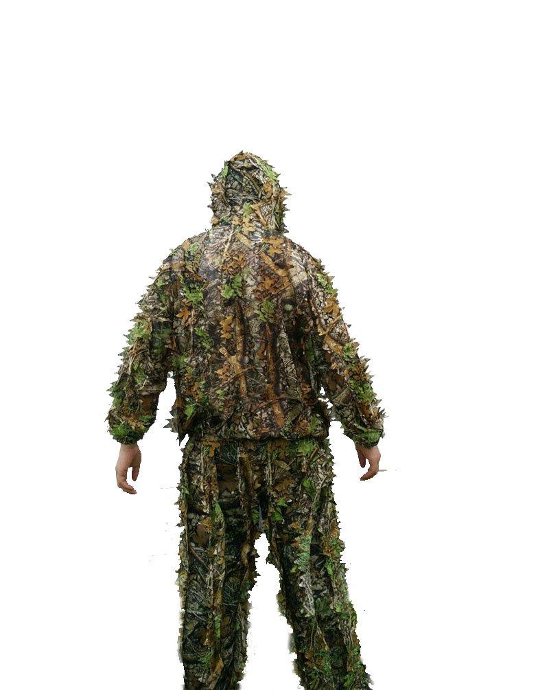 Caza Ropa 3d hoja de arce Bionic Ghillie trajes ropa chaqueta y pantalones Origial DE lamp