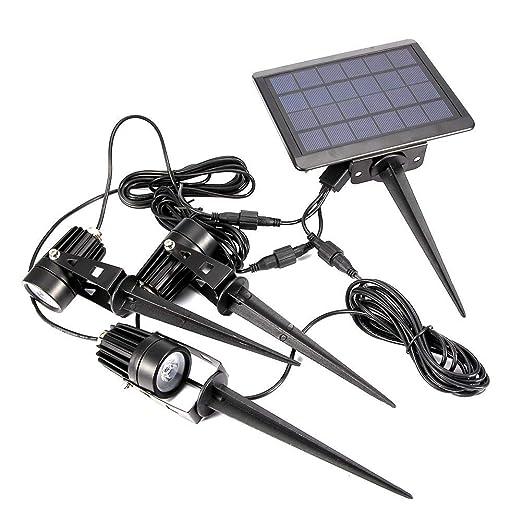 koulate Proyector Solar para paisajes, Panel Solar para Exteriores ...