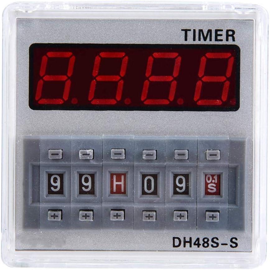 XY-YZGF Tiempo de retardo de retransmisión, 12V / 24V / 380V programable Tiempo de retardo del relé temporizador 0.1S-99H 8-Pin DH48S-S (# 2)