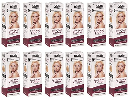 CoSaMo - Love Your Color Non-Permanent Hair Color 770 Beige Blonde - 3 oz. (Pack of 12) + FREE Travel Toothbrush, Color May Vary by CoSaMo