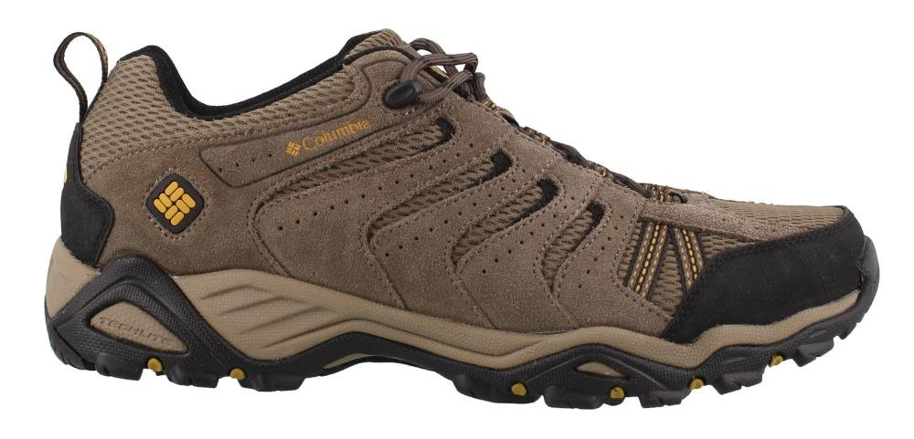 Columbia Men's North Plains Ii Wide Hiking Shoe, Wet Sand, Squash, 10.5 2E US by Columbia