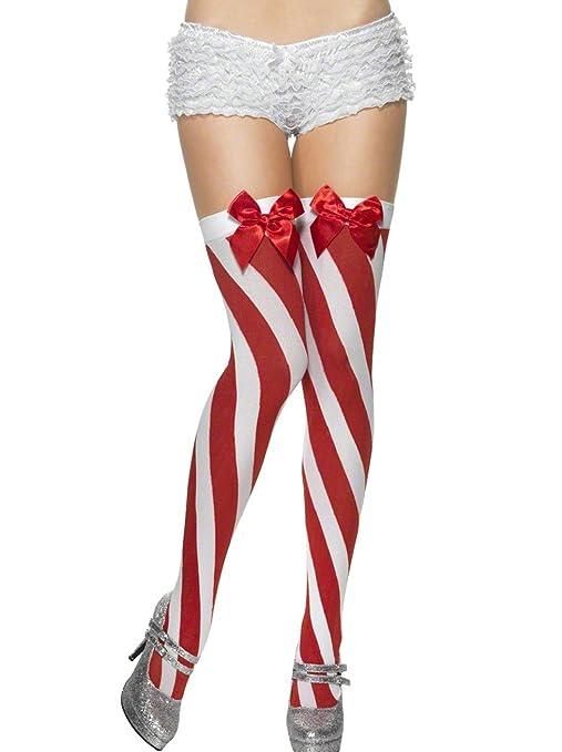 metà fuori migliore selezione di scarpe esclusive Calze a righe rosse e bianche adulto donna: Amazon.it ...