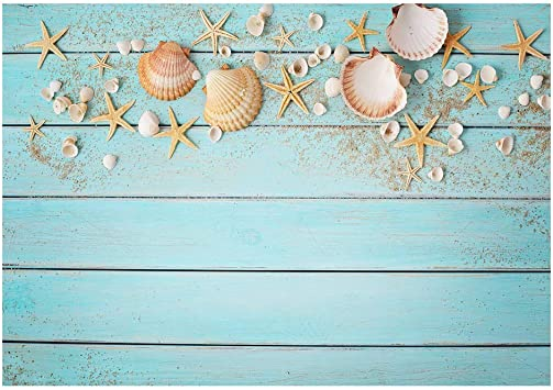 Starfish and Wooden Board Wedding Baby Photography Background Custom Photography Studio Photography Background