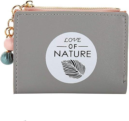 Damen Geldbörse Portemonnaie Brieftasche Geldbeutel Portmonee Elegant Leder Grau