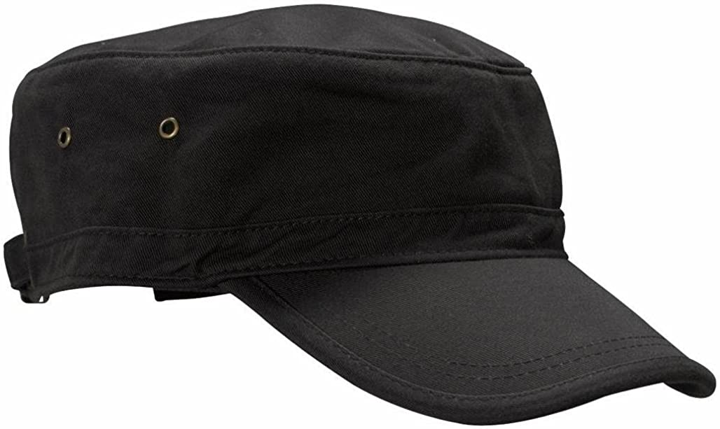 econscious SWEET-250 100% Organic Cotton Twill Adjustable Corps Hat, Black: Clothing