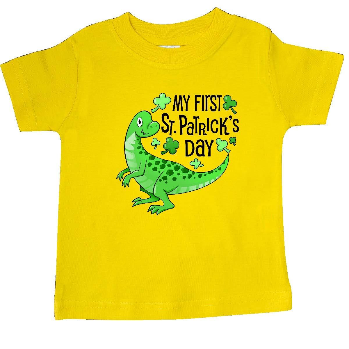 Green Dinosaur Baby T-Shirt inktastic My 1st St Patricks Day