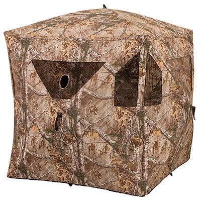 Ameristep Stand Hunting Blinds - Ameristep Brickhouse Ground Blind Realtree Edge Frame Frame