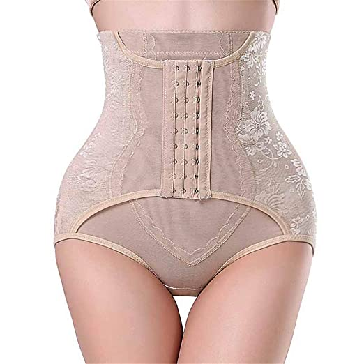 7efc03cf6d High Waist Trainer Tummy Control Panties Butt Lifter Body Shaper Corsets  Hip Ab en Enhancer Shapewear Underwear Panty Hooks at Amazon Women s  Clothing store ...