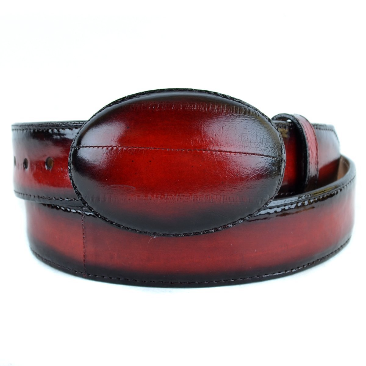 Original Faded Red Eel Skin Western Style Belt