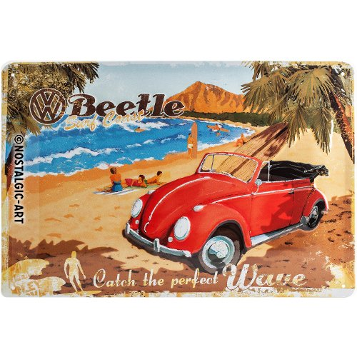 Tin Sign Vintage VW beetle 4