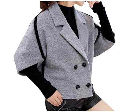 Amazon Com Sexybaby Women S Oversized Trim Fit Lapel Woolen Blazer