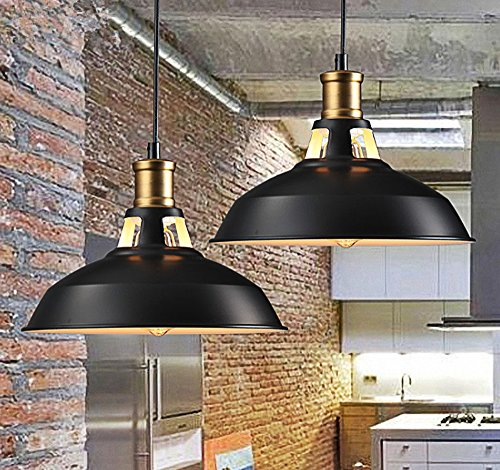 Retro Metal Dome Chandelier, Motent 2pcs Industrial Vintage Bowl Hollowed Out 1-light Pendant Lampshade Antique Iron Wrought Island Hanging Lighting Fixture for Office Corridor Bedroom - 11