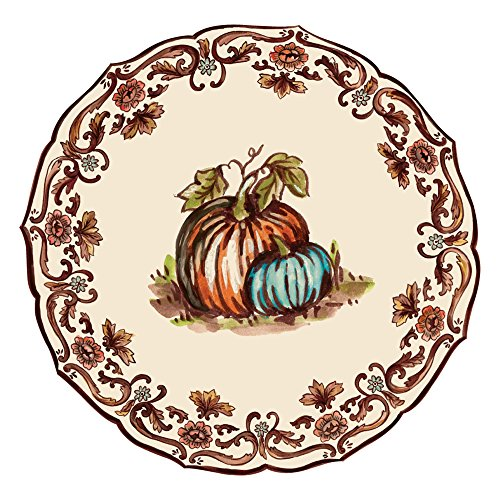 Hester & Cook Paper Placemat, Pad of 12 (Die-Cut Thanksgiving China)