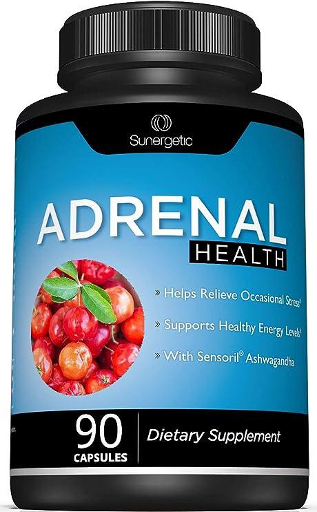 Premium Adrenal Support Supplement - Adrenal Formula for Energy, Adrenal Health & Mood – Adrenal Complex Includes Ashwagandha, L-Tyrosine, Holy Basil & Acerola –90 Capsules
