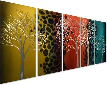Day And Night Change 5 Panel Metal Wall Art Decor Of 64 X 24 Amazon Co Uk Welcome