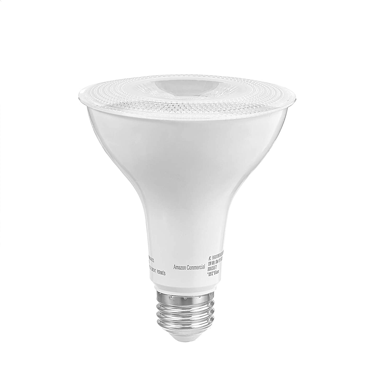 Pack of 10 Daylight Commercial 75 Watt Equivalent E26 Base PAR30 LED Light Bulb Dimmable 15000 Hours Energy Star Compliant 800 Lumens