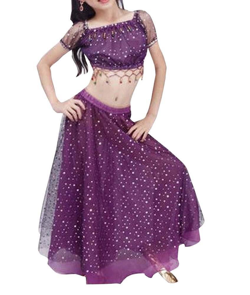 Violet Summer Enfants Belly Dance Tops & Dress Set East Majik