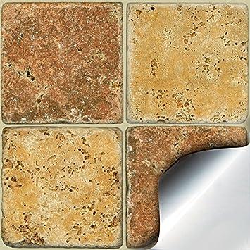 24 Stück Fliesenaufkleber Für Küche Und Bad (Tile Style Decals 24xNTP 08   4u0026quot;