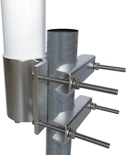 Altelix Antena MIMO Omni de 2,4 GHz 15 dBi WiFi de 2 puertos para Ubiquiti RocketM2, MikroTik BaseBox2 y Cambium ePMP