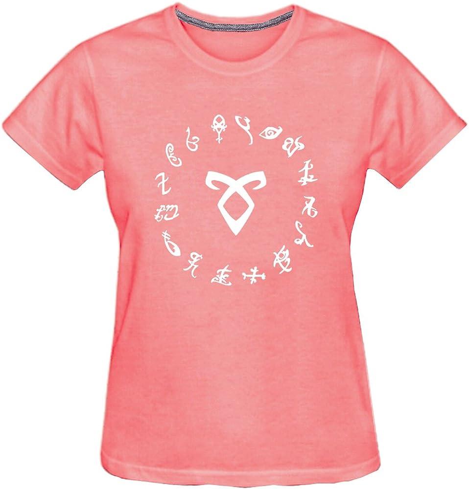 Chimpanzee Womens Shadowhunter Runes Angelic T-Shirt