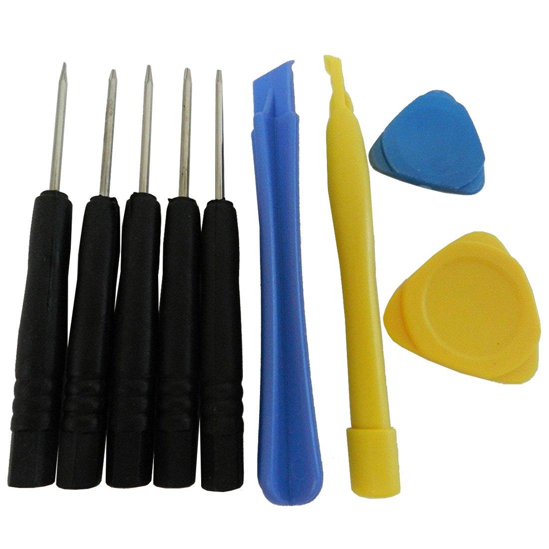 TOOGOO(R) 9 Pcs Mini Torx T2 T3 T4 T5 T6 (6 Point) Cell Phone Repair Kit Tool Set Screwdrivers Tools