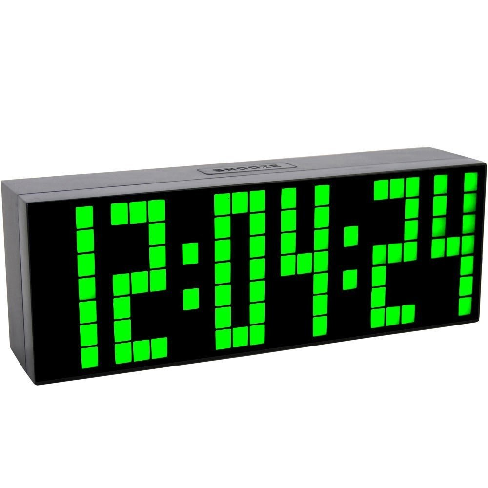 Big Font LED Digital Alarm Temperature Calendar Wall Clocks Countdown Timer Sport Timer Large Led Display Alarm Clock Mic technology