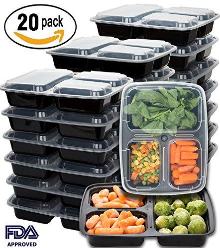 买便宜的meal prep containers pack compartment food storage container with lids microwave dishwasher safe reusable portion