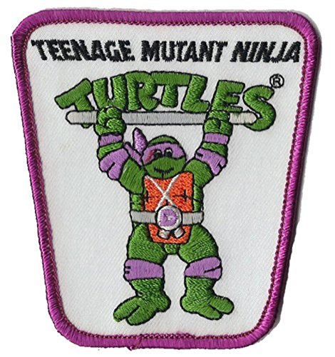 Teenage Mutant Ninja Turtle Action Figure Iron on Patch (Donatello) (Shredder Costume For Adults)