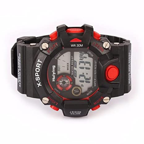 Amazon.com : Quaanti New Sports Watches LED Military Silicone Waterproof 3Bar Relojes Hombre Digitales in Blue Gray Orange Red Yellow (Blue) : Sports & ...