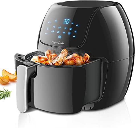Taylor Swoden Sunbeam - Freidora de aire sin aceite, capacidad 6 l, 1800W, pantalla digital LED táctil, 8 ajustes preprogramados de cocinado, apagado automático: Amazon.es: Hogar