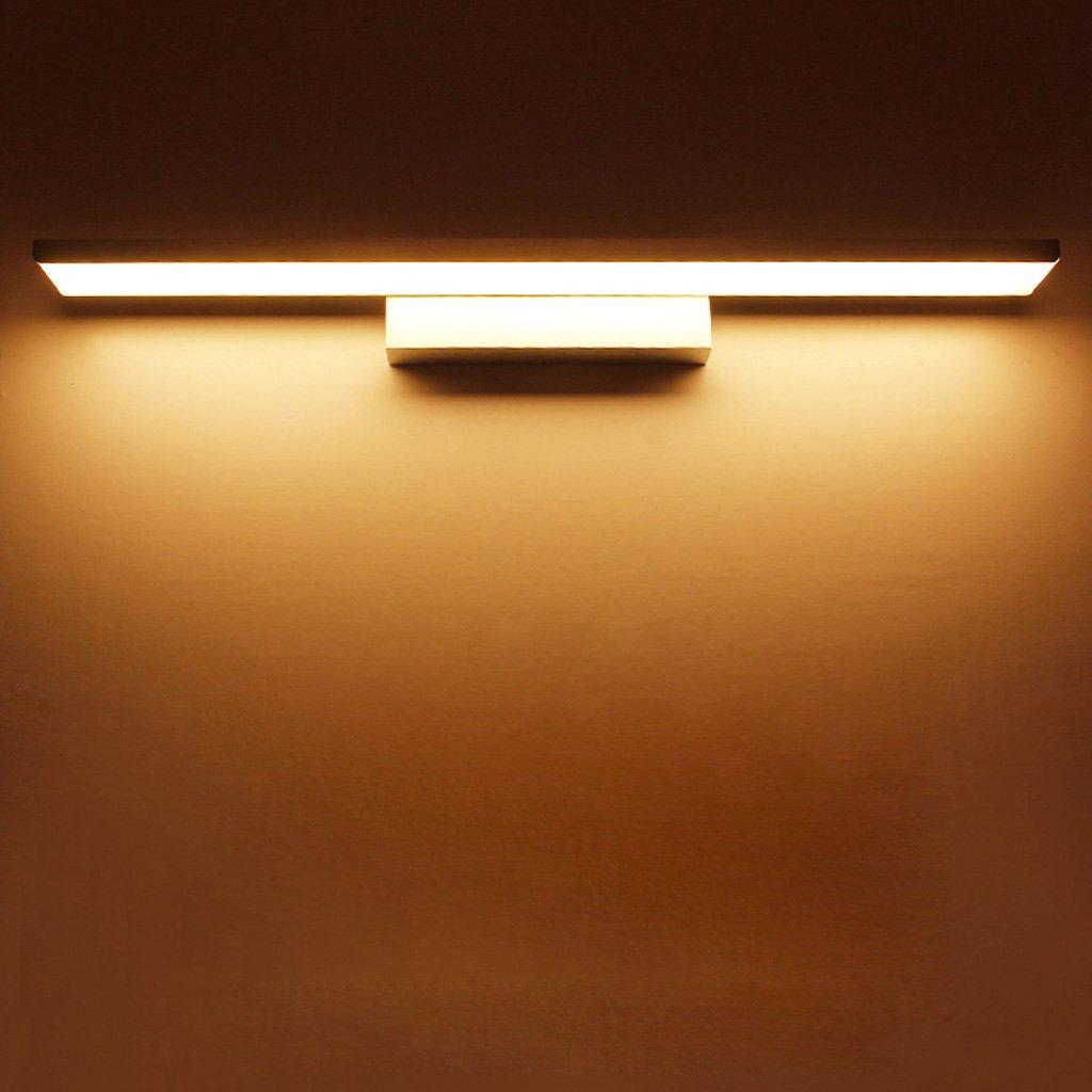 Simple Mirror Light LED, Anti-fog Bathroom Mirror Headlight, Bedroom Mirror Cabinet Light, Acrylic Wall Washer, Bathroom Wash Lamp, Aluminum Lamp Body (Silver) (Size : L61cm warm light)