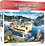 jigsaw puzzle fishing - MasterPieces Childhood Dreams Lucky Days - Fishing 1000 Piece Jigsaw Puzzle by Dan Hatala