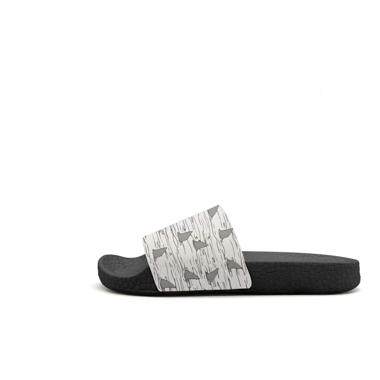 Fin Shark Jaws Ocean Beach Summer Slip Resistant Comfort Men Slides Sandal