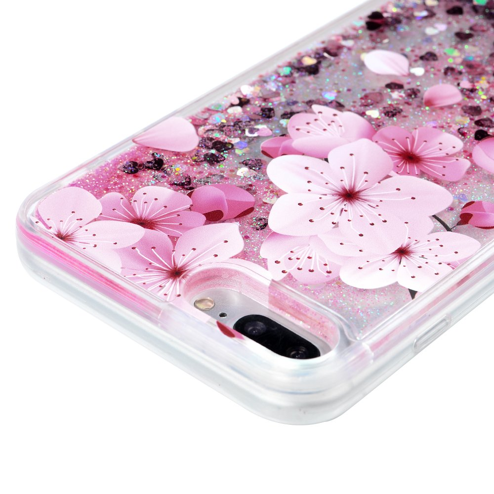 iPhone 7 Plus Case, Liquid Glitter Case Bling Shiny Sparkle Flowing Moving Love Hearts Cover Clear Ultral Slim Protective TPU Bumper Shockproof Drop Resistant Protective Case for iPhone 8 Plus KASOS by KASOS (Image #5)