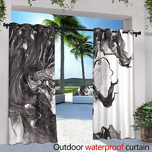 Lightly Fashions Drape,Abstract Hand Painted Watercolor Colorful Wet on White Paper Texture for Creative Wallpaper or,W72 x L108 Outdoor Patio Curtains Waterproof with Grommets