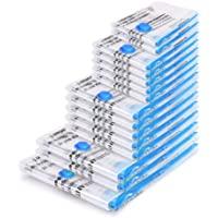BoxLegend Worki próżniowe, 15 sztuk, worki do przechowywania, worki próżniowe 1XXL + 2XL + 5L + 5M + 2S wielokrotnego…
