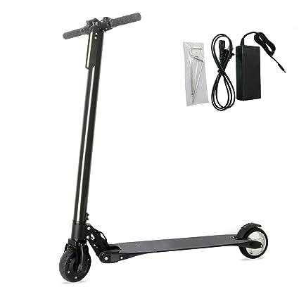 Amazon.com: Freego plegable Kick Scooter eléctrico, fibra de ...