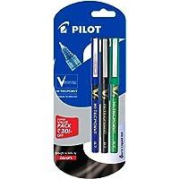 Pilot V7 Liquid Ink Roller Ball Pen (1 Blue + 1 Black + 1 Green)