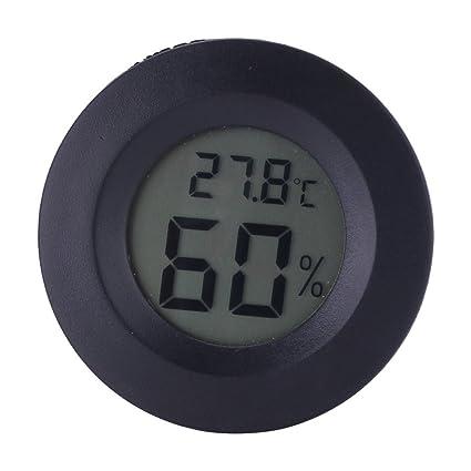 lecimo Termometro Igrometro Digitale Rotondo Misuratore Temperatura Umidità Portatile