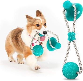 2019 Multi-Function Dog Molar Stick-Giocattolo da Masticare per Cani Cane Giocattolo per Cani Multifunzione Pulizia efficiente dei Denti Palla per Cani Ventosa Blu Resistente