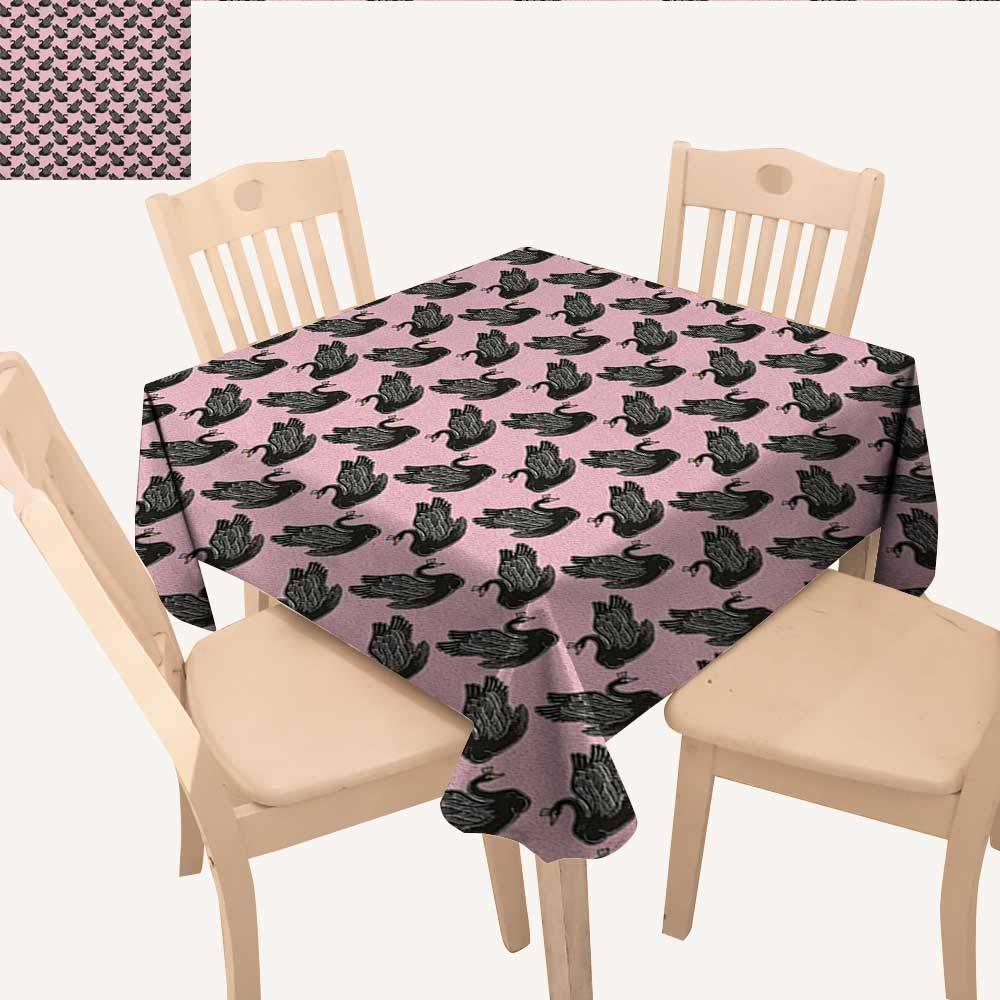 longbuyer Swan タッセル テーブルクロス プリンセス ドレス ガウン マジック シューズ ミラー キュート スワン ティアラパターン アウトドア テーブルクロス ラベンダー ブラッシュ ホワイト W 70