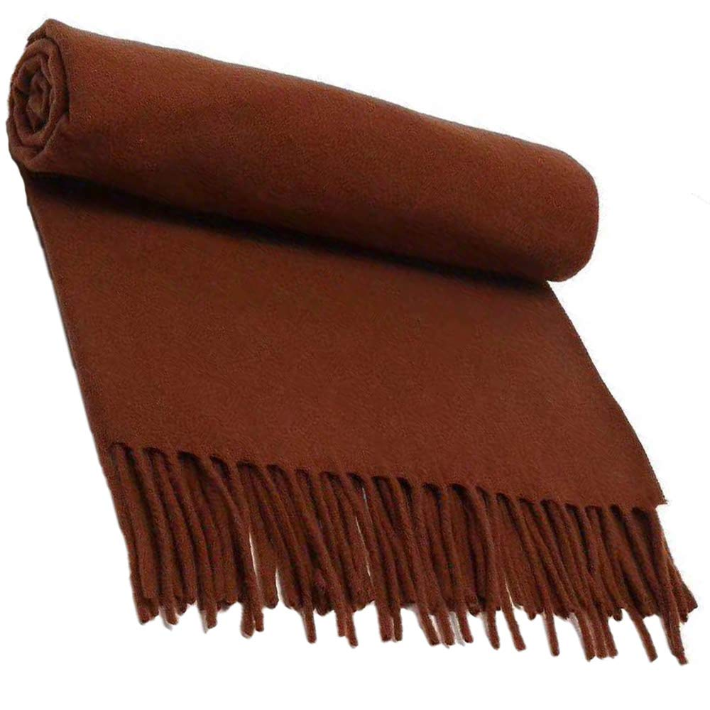 34 Scarf, Pure Wool Scarf Textile, Solid color Warm Pure Cashmere Scarf Men and Women Shawl 200CM